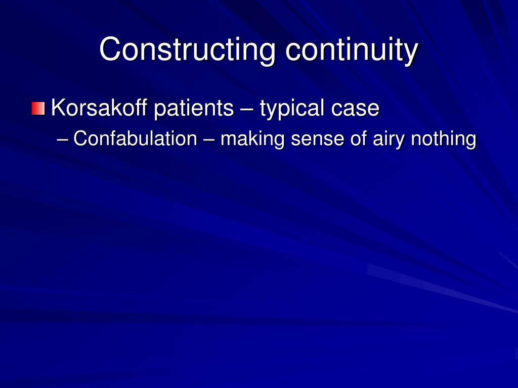 Constructing continuity