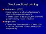 direct emotional priming
