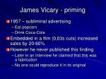 james vicary priming