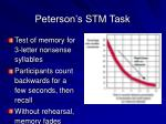 peterson s stm task