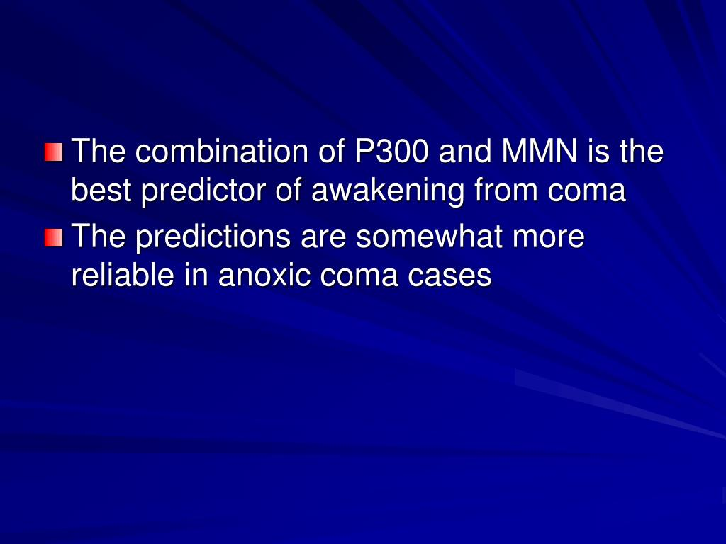 The combination of P300 and MMN is the best predictor of awakening from coma