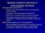 spared implicit learning in anterograde amnesia