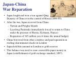 japan china war reparation