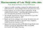 macroeconomy of late meiji 1890s 1900s trade budget finance saving mobilization