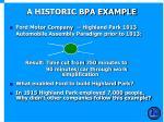 a historic bpa example