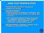 analysis frameworks