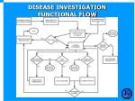 disease investigation functional flow