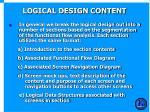 logical design content
