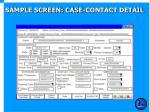 sample screen case contact detail