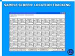sample screen location tracking