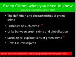 green crime what you need to know according to lindisfarne press 2009