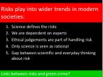 risks play into wider trends in modern societies