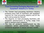food processing packaging machinery and equipment industry in turkey