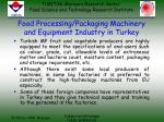 food processing packaging machinery and equipment industry in turkey24