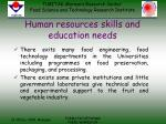 human resources skills and education needs