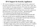 ipv6 support in security appliances