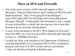more on ipv6 and firewalls
