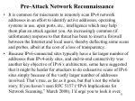 pre attack network reconnaissance