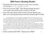 rh0 source routing header
