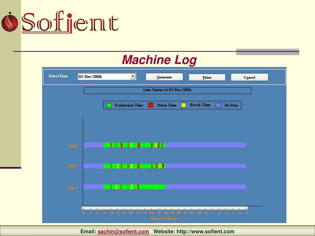 Machine Log