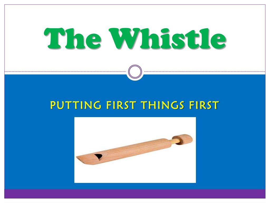 the whistle l.