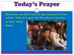 today s prayer