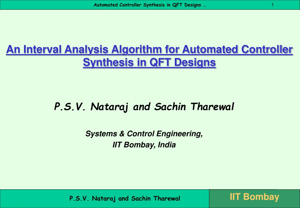 an interval analysis algorithm for automated controller synthesis in qft designs l.