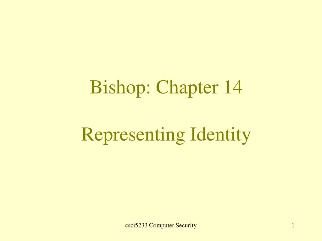bishop chapter 14 representing identity l.
