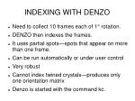 indexing with denzo