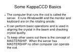 some kappaccd basics