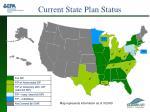 current state plan status