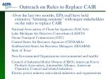 outreach on rules to replace cair
