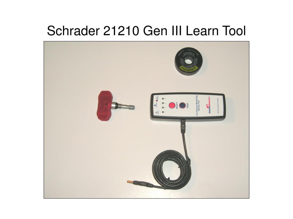 schrader 21210 gen iii learn tool l.