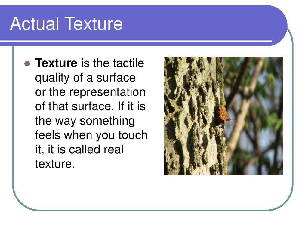 Actual Texture
