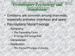 evolutionary psychology and emotivism