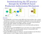institutionalizing the jit practice through the kanban based production authorization mechanism