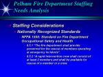 pelham fire department staffing needs analysis16