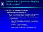 pelham fire department staffing needs analysis17