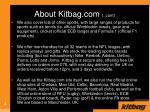 about kitbag com cont
