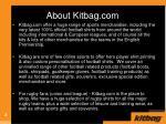 about kitbag com
