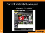 current whitelabel examples8