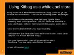 using kitbag as a whitelabel store