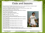 clubs and seasons