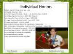 individual honors