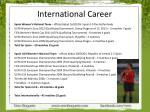 international career