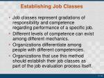 establishing job classes