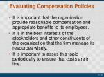 evaluating compensation policies