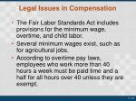 legal issues in compensation