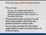 pay surveys and compensation