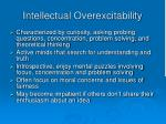 intellectual overexcitability